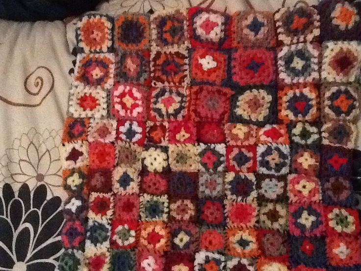 Babyblanket with granny squares