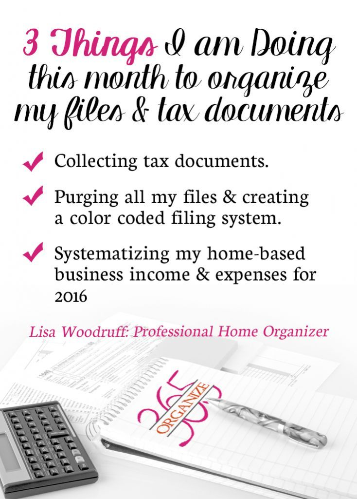 With tax organization comes the urge to purge your files. Here are 3 ways I am organizing my tax documents and files this year.