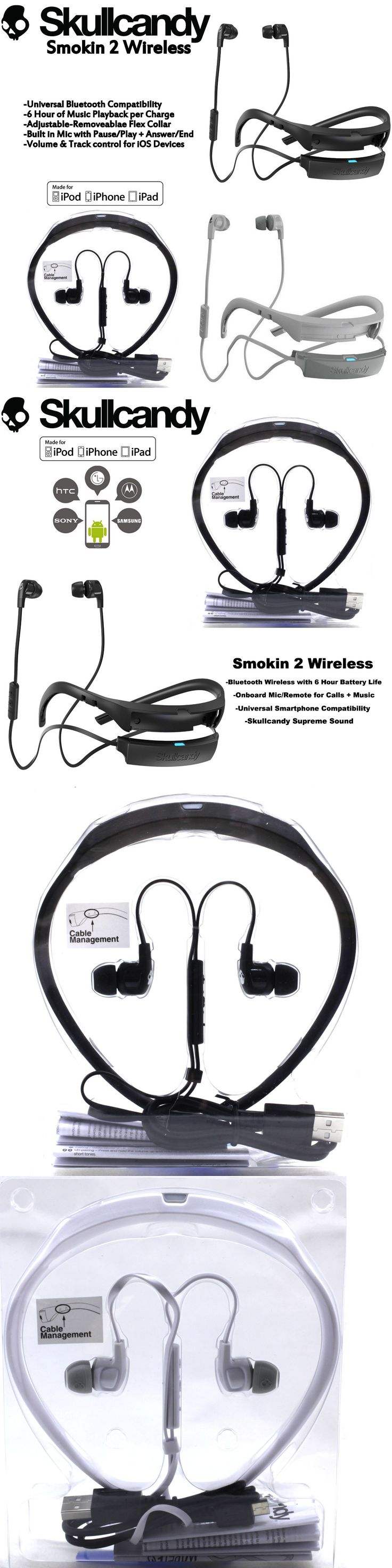 Headphones: Skullcandy Smokin Buds 2 Wireless Bluetooth Earphones With Mic Red White New -> BUY IT NOW ONLY: $34.97 on eBay!