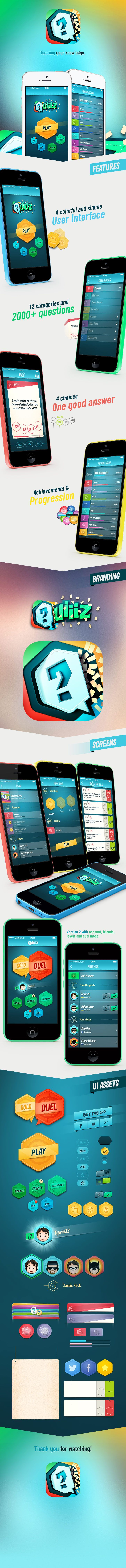Case study of an iOS Game, Quiiiz. https://www.behance.net/gallery/19178543/Quiiiz-iOS-Game