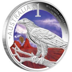 Sydney ANDA Coin Show Special - World Heritage Sites - Willandra Lakes Region 2013 1oz Silver Proof Coin