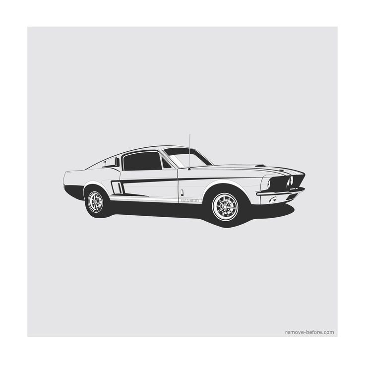 Remove Before Limited Edition Classic Car Print Shelby Gt