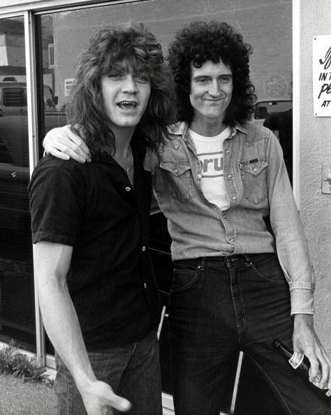 Eddie Van Halen and Brian May.