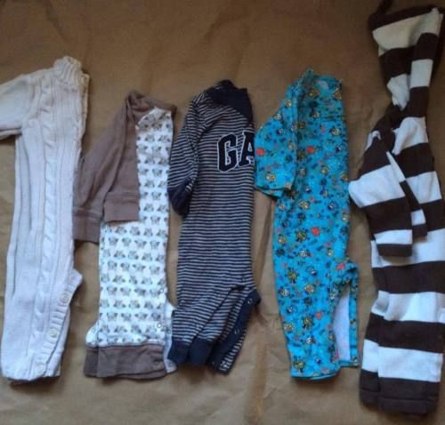 5-Piece-Lot-of-3-6-Months-Boys-Rompers-Baby-Gap-Old-Navy-Zutano