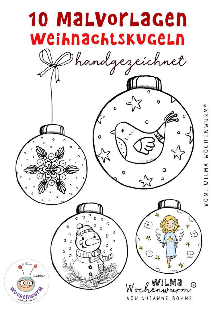 10 malvorlagen weihnachtskugeln für kinder in kita