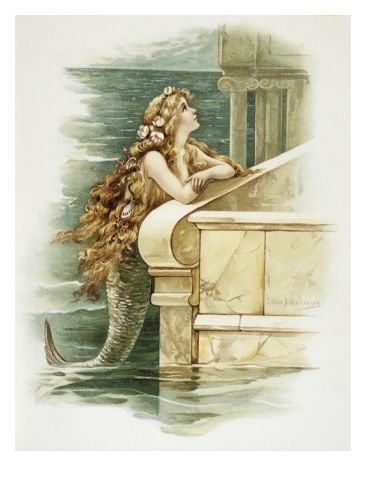 The Little Mermaid Giclee Print by Eddie J. Andrews at Art.com