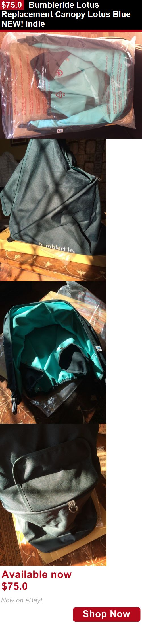 Covers Canopies And Umbrellas: Bumbleride Lotus Replacement Canopy Lotus Blue New! Indie BUY IT NOW ONLY: $75.0