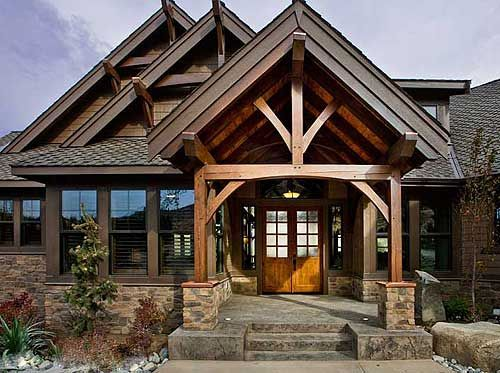 25 best ideas about mountain house plans on pinterest for Mountain craftsman house