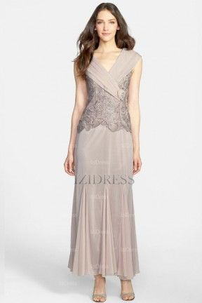 Sparkley Ankle Length Mother of the Bride Dresses Charcoal