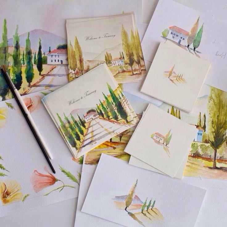 Wedding invitations. Tuscany