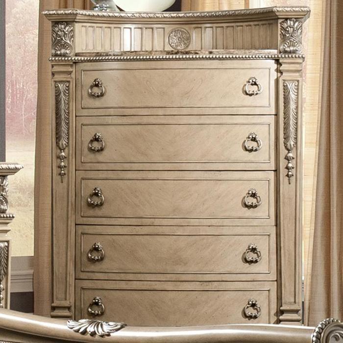 marble top bedroom furniture%0A Monaco   Drawer Chest in Bisque Wood   Nebraska Furniture Mart  Mirror Set Dresser Mirror  Drawer ChestMarble TopBedroom