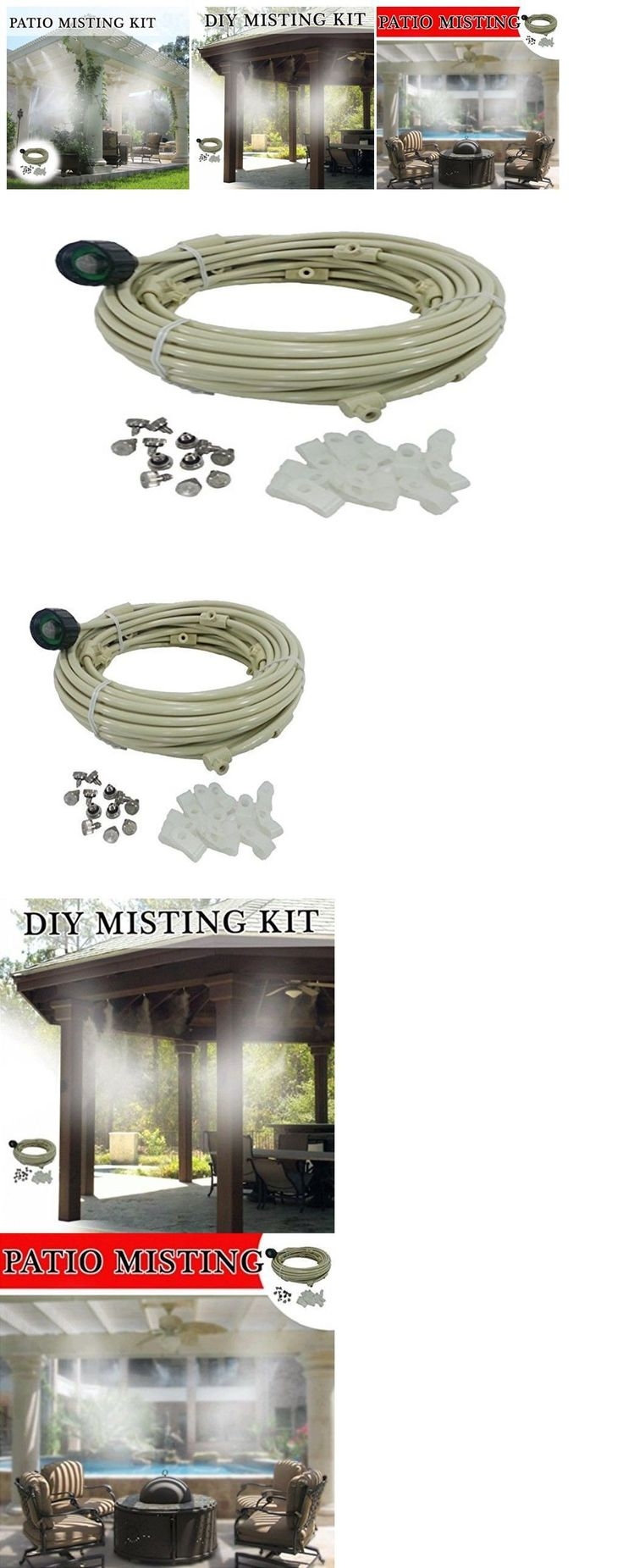 Hose Nozzles and Wands 181015: Misting Kit System Fan Cooling Brass Stainless Steel Mist Nozzles Outdoor 36 Ft -> BUY IT NOW ONLY: $47.99 on eBay!
