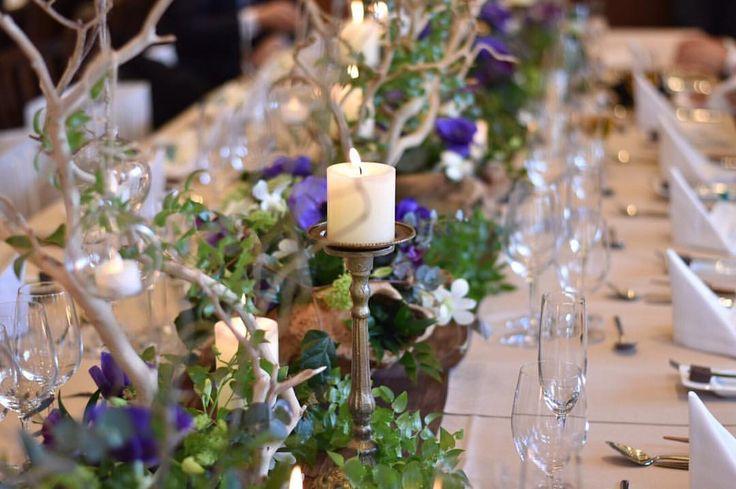 いいね!28件、コメント2件 ― S228y0304さん(@s228y0304)のInstagramアカウント: 「やりたかった流しテーブル。 こんな写真も見たらやってよかったなって思います。 グリーン、パープルがイメージカラーでとっても素敵にして頂けました♡ #tgoo #wedding…」