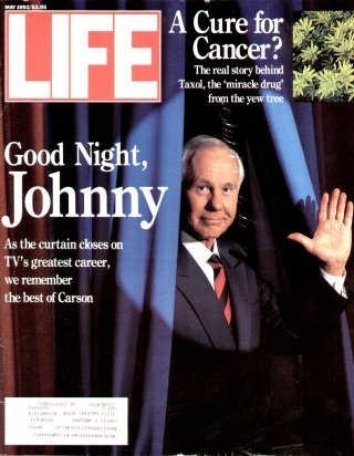 "Johnny Carson ~ Life Magazine ~ May 1, 1992 issue ~ Click image to purchase. Enter ""pinterest"" at checkout for a 12% discount."