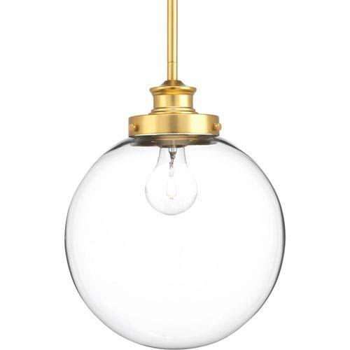 Progress Lighting P5070 137 Penn Natural Brass 10 Inch One Light Globe Pendant On SALE