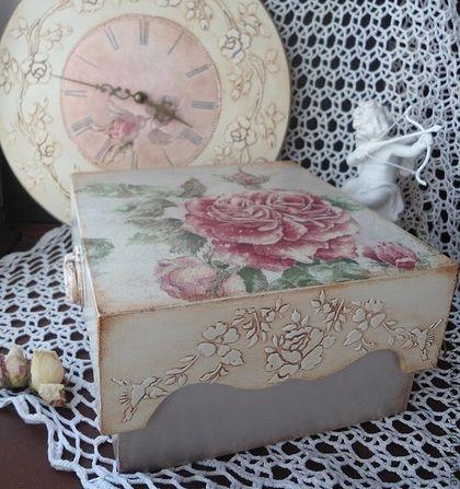 """Шкатулки ручной работы. Ярмарка Мастеров - ручная работа Шкатулка """"Bouton de rose"""". Handmade."""