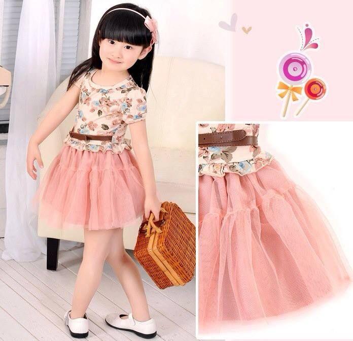 Baju Anak Cewek Korea Style Dress Tutu Blink Tempat