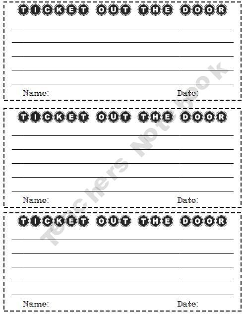 122 best Classroom Exit Tickets, Objectives, \ Rubric Ideas images - lunch ticket template