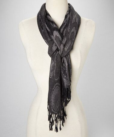 Take a look at this Black & Gray Pashmina- Silk-Blend Scarf by Rapti on #zulily today!