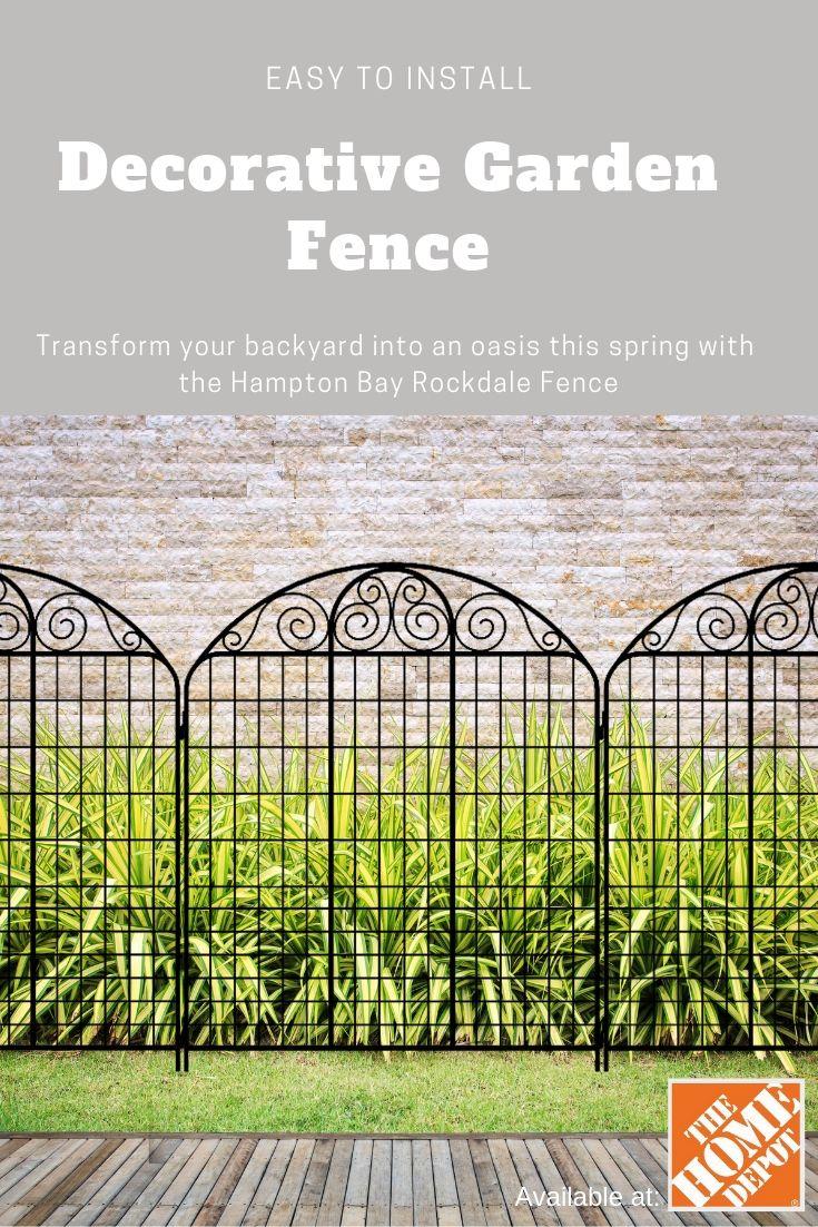 Rockdale 43 8 In Black Steel Fence Panel 3 Pack 860244