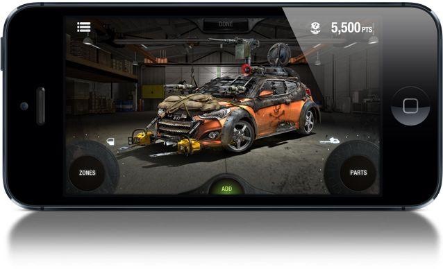 The Walking Dead i Hyundai han creat una campanya peculiar: a través de la web pots crear el teu cotxe personalitzat per lluitar contra els zombies de la serie. També disponible amb apps per mòbils.