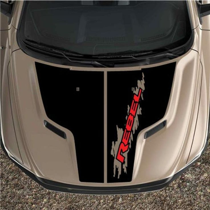 2 Color Dodge Ram Sport Hood Splash 1500 Stripes Race