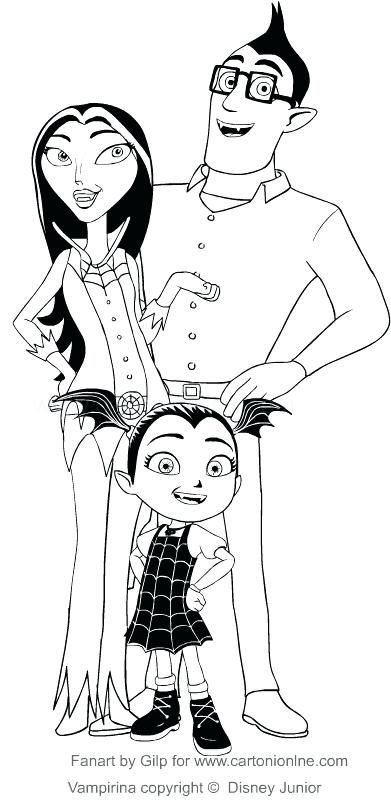 vampirina coloring pages together
