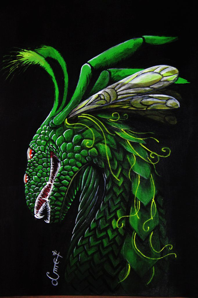 My old #painting of #dragon #portrait. #art #acrylicpainting
