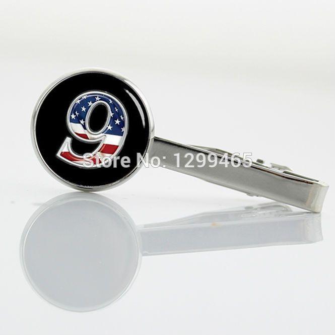 Американский флаг № 9 память Зажим Для Галстука мужские Аксессуары номер в искусстве Tie tacks музеальная punk Галстук Клипы Т 751