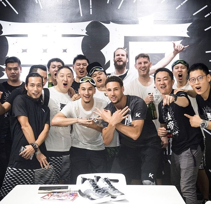 NBA player #KlayThompson of the Golden State Warriors meets fans part of his AntaWorldTour 2017 in China