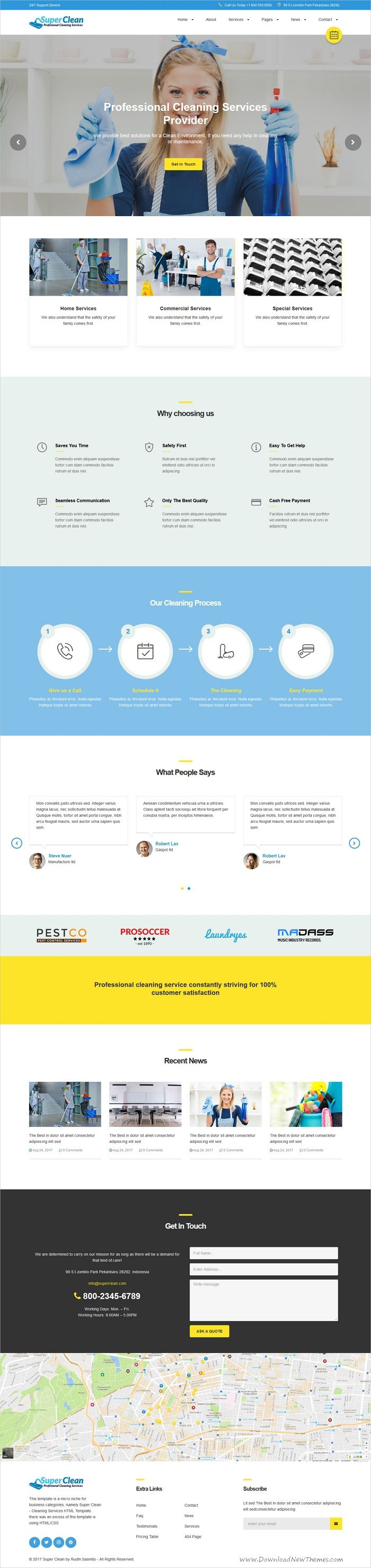 Super clean and unique and modern design 2in1 #bootstrap template for cleaning #service companies website download now > https://themeforest.net/item/super-clean-cleaning-services-html-template/19947280?ref=Datasata