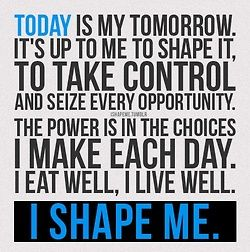 To see your tomorrow, take a look at your today. Choose wisely.