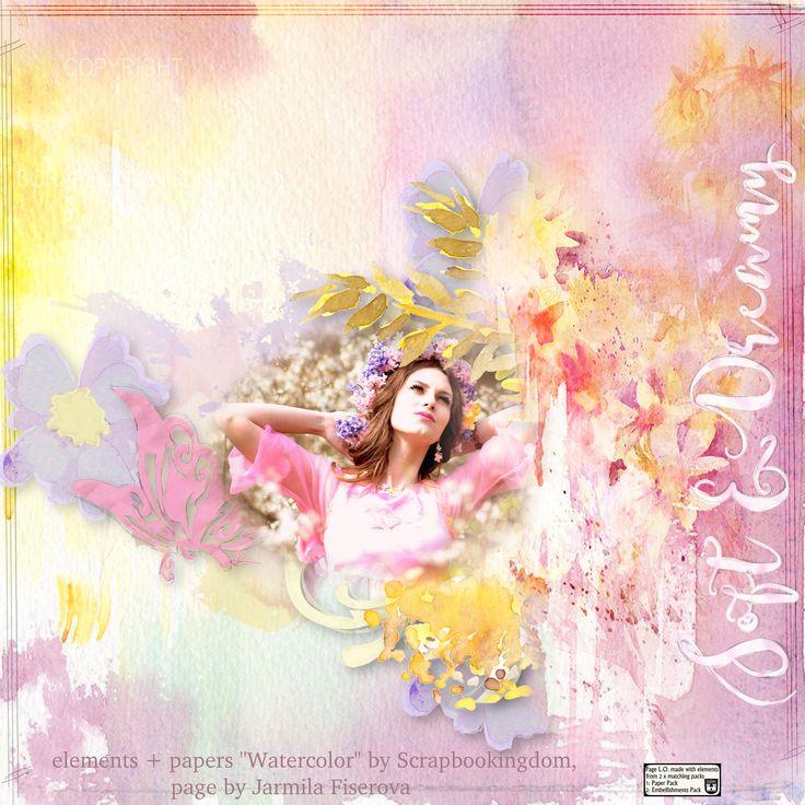 """""Watercolors"" by Scrapbookingdom, Paper pack: https://www.etsy.com/listing/492308184/watercolor-cu-scrapbook-paper-pack?ref=shop_home_feat_3 Embellishments pack: https://www.etsy.com/listing/505797199/watercolor-embellishments-pack-stunning?ref=shop_home_feat_4, photo Adina Voicu, Pixabay"