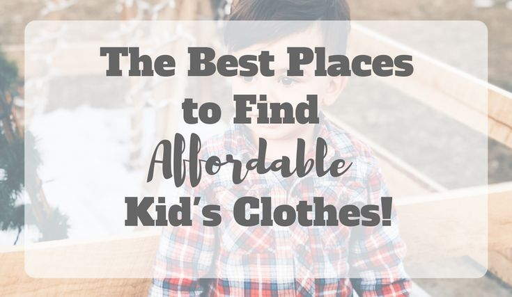 A comprehensive list of the best affordable children's clothing stores that you may not have heard of! Keep reading to learn how to get the best deals on kid's clothes!
