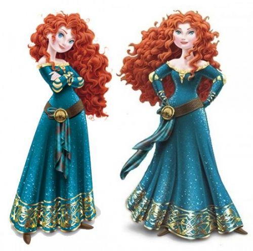 Принцесса Мерида версия 2D от Дисней
