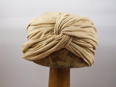 Bronte turban jersey beige