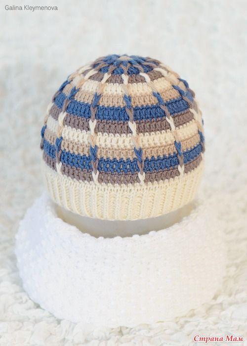 Полосатая шапочка для сыночка - В.Г.У. - Вязаные Головные Уборы - Страна Мам