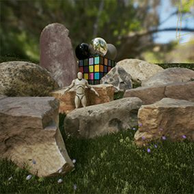 A variety of 10 different rocks types photographed in studio and constructed using photogrammetry, perfect for Game Development and Architectural Visualization.