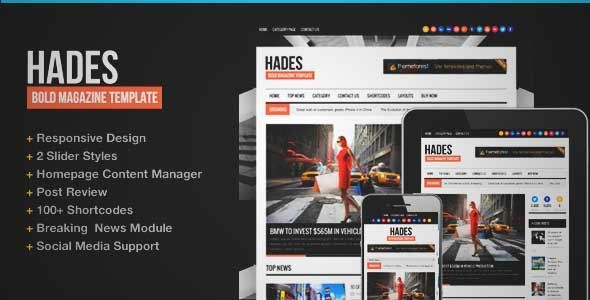 Download and review of Hades Bold Magazine Newspaper Template, one - online newspaper template