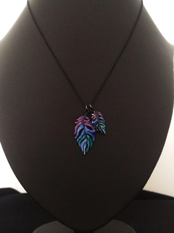Unique Fashion Jewellery Australia - Purple and Blue Feathers Pendant Necklace, $40.00 (http://www.uniquefashionjewellery.com/purple-and-blue-feathers-pendant-necklace/)