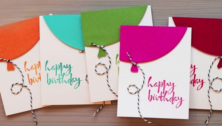 Quick Birthday Balloon Cards - YouTube