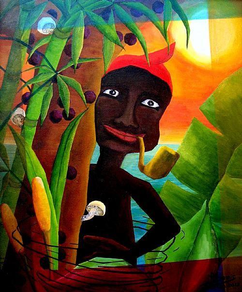 Saci Pererê - Acrílica sobre tela by Denis Matos