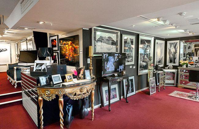Celebrity Vogue Photography And Seductive Art Gallery Interior