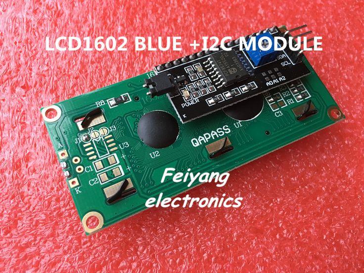 Lcd1602 + i2c 1602 وحدة lcd شاشة زرقاء iic/i2c لاردوينو lcd1602 محول لوحة