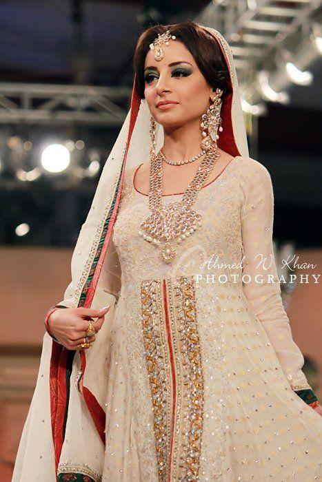 Nadia Chhotani bridal at bridal couture week 2012 nikkah / valima