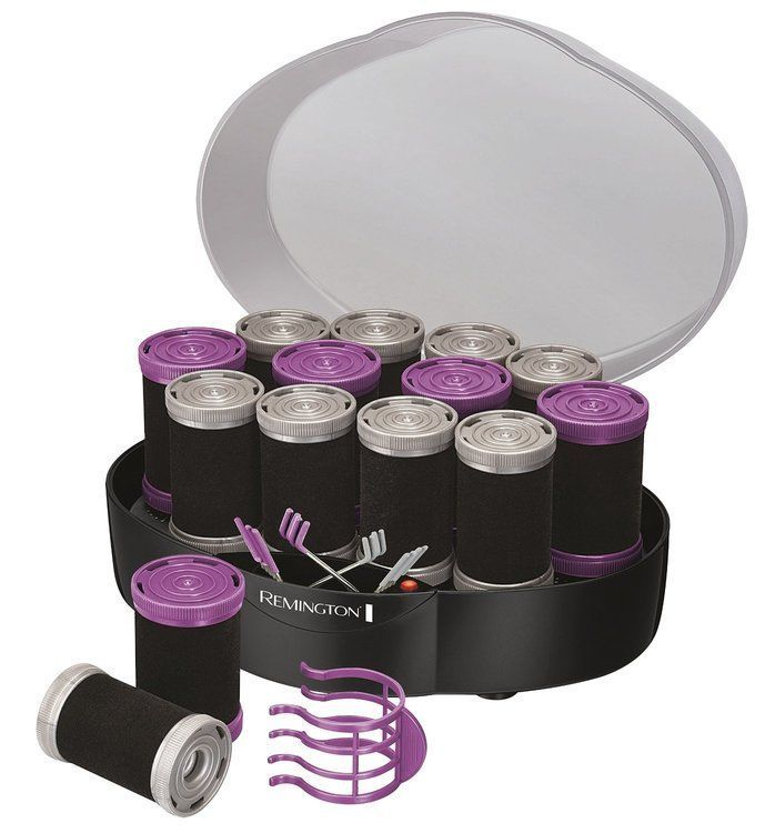 Set Curls Hair Ceramic Rollers Electrically Heated 12 Piece Styling Large Volume