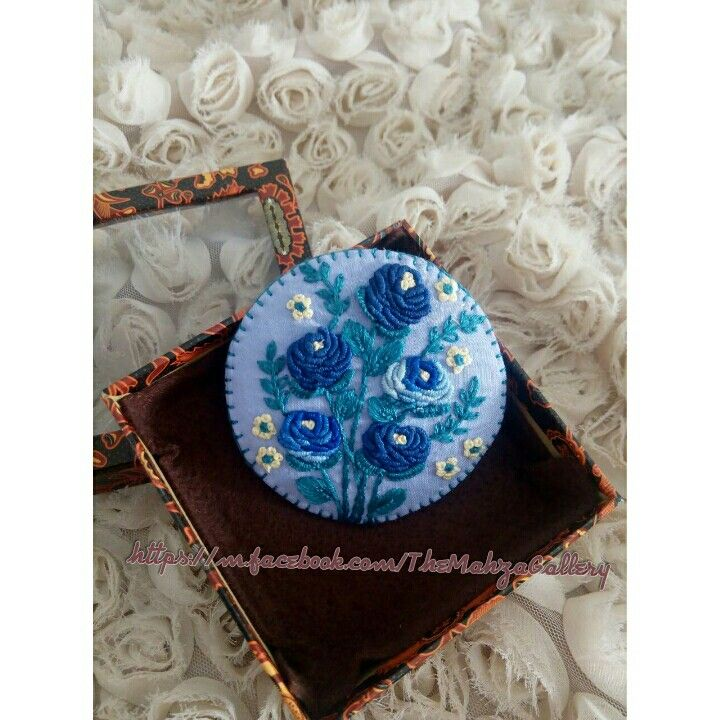 Hand embroidery brooch - bros sulam