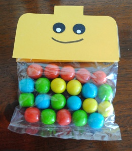 Lego Party Favors - bag topper