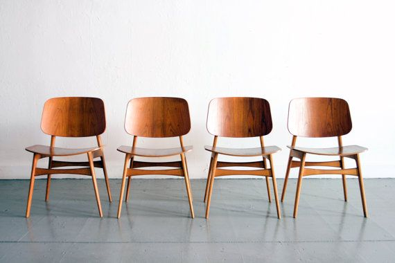Danish Modern Teak Borge Morgensen Dining Chairs, The Circa Modern
