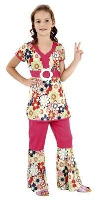 Hippi Kız Kostümü, Lüks 7-9 Y Parti Kostümleri - Kız Çocuk Parti Kostümleri Dönem Kostümleri; Karakter Kostümleri; Parti Kostümleri: 70'ler Hippie Temalı Parti Kostümü  İnce likralı kumaştan üretilmiş, kısa kollu tünik ile pantalona bağlı plastik tokalı kemerli, İspanyol paça pantalon.